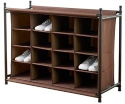 Neatfreak 16-Compartment Shoe Rack for $30