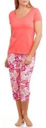 Women's Solid Sleep 3-Piece Pajama Set for $10