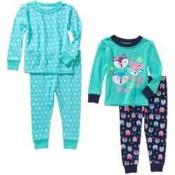 Infant/ Toddler 4pc Cotton Tight-Fit Pajamas $5