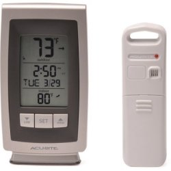 AcuRite Wireless Weather Clock Station for $10