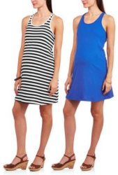 2 Faded Glory Women's Maternity Tank Dresses $7