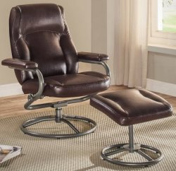 True Recliner and Ottoman Set for $100