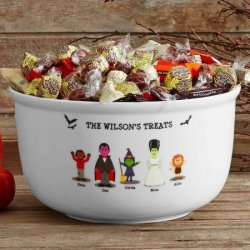Personalized Spooky Family Candy Bowl for $23