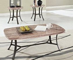 Val Faux Marble 3pc Coffee / End Table Set $142