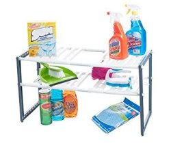 Stalwart Adjustable Under Sink Organizer for $12