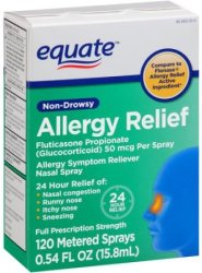 Equate Non-Drowsy Allergy Relief Spray for $5