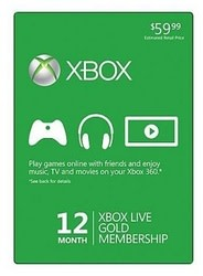 Xbox LIVE 12-Month Gold Membership for $42 + free shipping