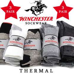 Winchester Men's Thermal Socks 3-Pack for $7
