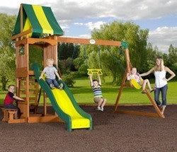 Backyard Discovery Weston Cedar Swing Set for $319
