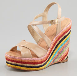 kate spade new york Women's Lux Jute-Wedge Sandals for $186 + free shipping