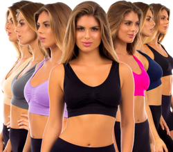 Women's Padded Sports Bra 6-Pack for $20 + $2 s&h