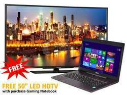 "MSI Haswell i7 Quad 17"" 1080p Laptop w/ 50"" LCD TV for $1,550 + free shipping"