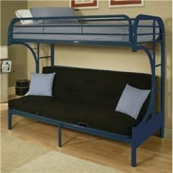 Eclipse Twin-over-Full Futon Bunk Bed for $180