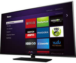 "JVC 42"" 120Hz 1080p LED LCD HDTV w/ Roku Stick for $298 + free shipping"