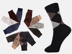 Men's Fashion Dress Socks 12-Pack for $6 + $4 s&h