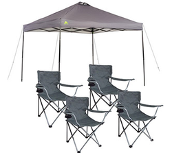 Ozark Trail 10x10-Foot Canopy w/ 4 Chairs for $74