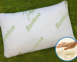 Bamboo Queen Memory Foam Pillow w/ bag for $20 + free shipping, more