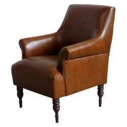 Candace Bonded Leather Arm Chair for $135 + $30 s&h