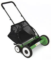 "Hand Push 20"" Lawn Mower w/ Grass Catcher for $60 + free shipping"