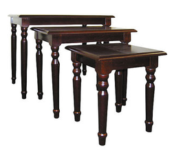 Traditional 3-Piece Nesting Table Set for $58 + free shipping