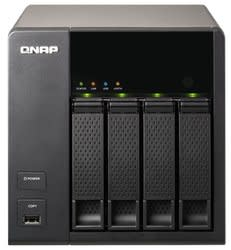 QNAP Diskless 4-Bay NAS Server for $220 + free shipping