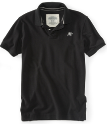 Aeropostale Men's A87 Solid Polo Shirt for $14 + free shipping