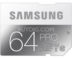 Samsung 64GB Pro Class 10 SDXC UHS-1 Memory Card for $42 + free shipping