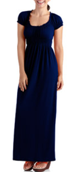 Stitch Women's Cap Sleeve Peasant Maxi Dress (Small only) for $8 + $5 s&h