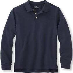 L.L.Bean Boys' Double L Long-Sleeve Polo (limited sizes) for $17 + free shipping