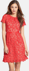 Adrianna Papell Women's Scalloped Lace Dress for $83 + free shipping