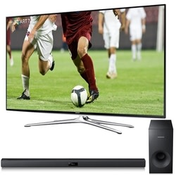 "Samsung 65"" 1080p LCD TV, Sound Bar, $300 Dell GC for $1,498 + free shipping"