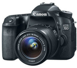 Refurb Canon EOS 70D 20MP DSLR Camera w/ Lens for $863 + free shipping