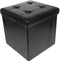 Collapsible Storage Ottoman for $17 + free shipping