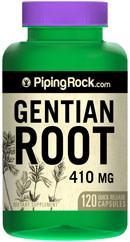 Piping Rock Gentian Root 120 410mg Capsules Bottle for $1 + free shipping