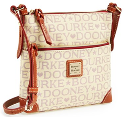 Dooney & Bourke Logo Jacquard Crossbody Bag for $113 + free shipping