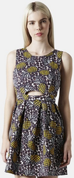 Topshop Pineapple Print Cutout Fit and Flare Dress for $35 + free shipping
