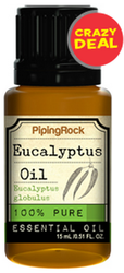 Piping Rock Eucalyptus Essential Oil 0.5-oz. Bottle for $2 + free shipping