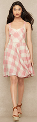 Ralph Lauren Blue Label Gingham Linen Dress for $139 + free shipping