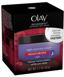 Olay Regenerist Night Recovery Cream 1.7-oz. Tub for $11 + free shipping