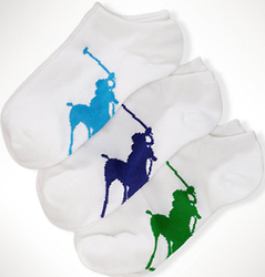 Ralph Lauren Girls' Big Pony Ankle Socks 3-Pack for $6 + $5 s&h