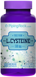 Piping Rock L-Cysteine 500mg 60-Capsule Bottle for $2 + free shipping