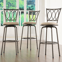 3 Tribecca Avalon Quarter Cross Swivel Barstools for $116 + free shipping
