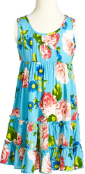 Mia Chica Girls' Tropical Tiered Sleeveless Dress for $17 + free shipping
