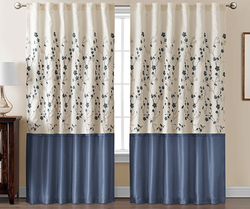 Vic Classics Sidney Embroidered Lined Curtains for $25 + free shipping