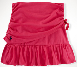 Ralph Lauren Girls' 7-16 Ruched Cotton Jersey Skirt for $22 + $5 s&h