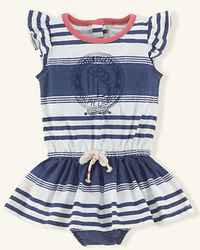 Ralph Lauren Layette Girls' Ringer Tee Dress for $18 + $5 s&h
