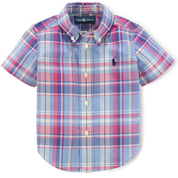 Ralph Lauren Infant Boys' Plaid Cotton Blake Shirt for $13 + $6 s&h