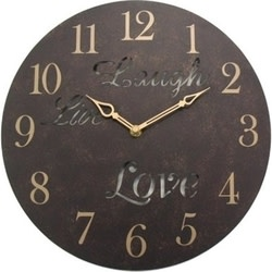 "Geneva 12"" Live Laugh Love Metal Wall Clock for $11 + $6 s&h"