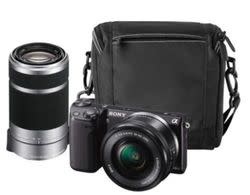 Refurb Sony NEX-5TL 16MP Camera w/ lenses, case for $450 + free shipping