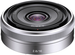 Refurb Sony E 16mm f/2.8 E-Mount Prime Lens for $176 + free shipping